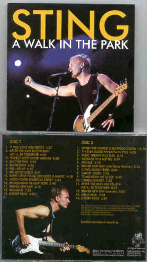 Sting / The Police - A Walk In The Park ( Swingin' Pig ) ( 2000 US Tour ) ( 2 CD!!!!! Set )