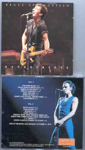 Bruce Springsteen - Backstreets ( 2 CD!!!!! SET )( LIVE at the Roxy , Los Angeles , October 17th , 1975 ) ( Chapter One )