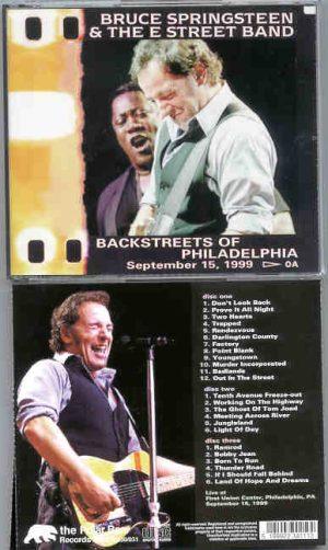 Bruce Springsteen - Backstreets Of Philadelphia ( 3 cd set ) September 15th , 1999 )
