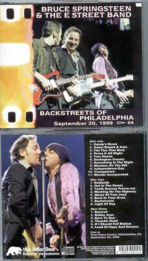 Bruce Springsteen - Backstreets Of Philadelphia ( 3 cd set ) September 20th , 1999 )