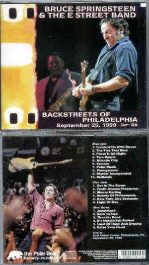 Bruce Springsteen - Backstreets Of Philadelphia ( 3 cd set ) September 25th , 1999 )