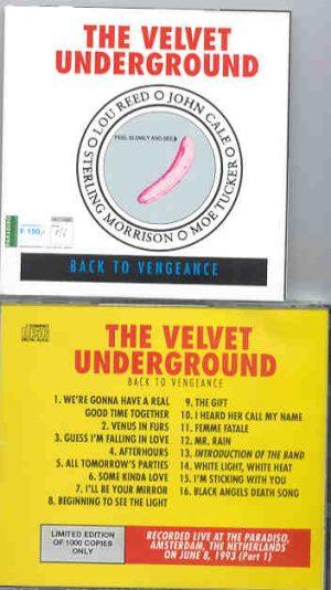 Lou Reed / Velvet Underground - Back To Vengeance I