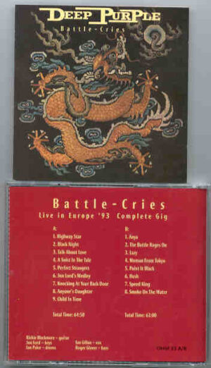 Deep Purple - Battle Cries ( 2 CD!!!!! set ) ( Live in Europe 1993 - Complete Gig )