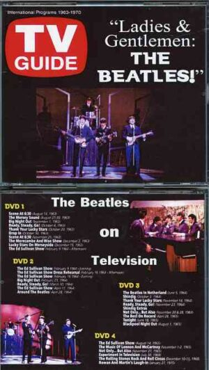 DVD The Beatles - The Beatles On Television 1963 - 1970 ( 4 DVD SET plus 12 pages Booklet )