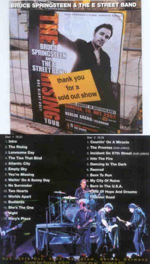 Bruce Springsteen - Berlin Night ( 2 CD!!!!! set ) ( Velodrom , Berlin , Germany , Saturday , October 20th , 2002 )