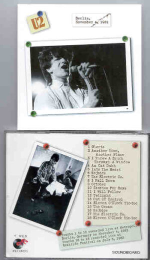U2 - Berlin , November 4th , 1981 ( Live at Metropol , Berlin , Germany + Bonus At Roskilde July 3rd , 1982 )