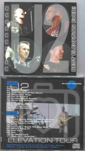 U2 - Best Elevation Ever ! ( American Airlines Arena Miami , USA , December 2nd , 2001 ) ( 2 CD!!!!! set )
