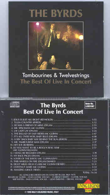 The Byrds - Tambourines and Twelvestrings  ( Living Legend )