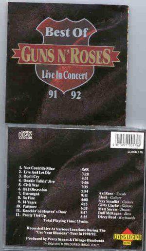 Guns N' Roses - Best Of Live In Concert 1991 - 1992 ( Living Legend )
