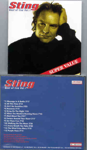 Sting / The Police - Best Of Live Vol. 1 ( On Stage Recs )