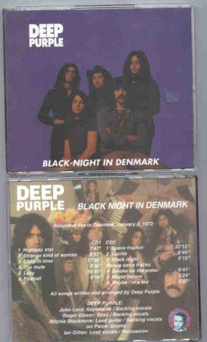 Deep Purple - Black Night At Denmark ( 2 CD!!!!! set ) ( Baby Capone ) ( Live In Denmark , January 3rd , 1972 )
