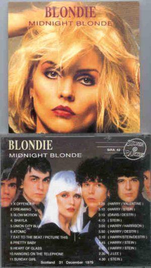 Blondie - Midnight Blonde ( 2 CD!!!!! SET ) ( Silver Rarities ) ( Scotland , December 31st , 1979 )