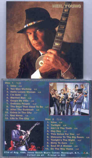 Neil Young / CSNY - Blue Notes ( 2 CD!!!!! set ) ( Jones Beach Music Center , Wantagh , NY , USA , August 27th , 1988 )
