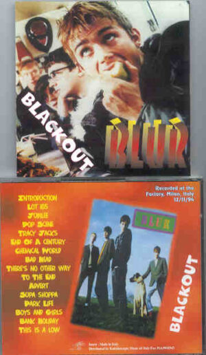 Blur - Blackout ( Live at The Factory , Milan , Italy , December 11th , 1994 )