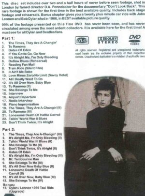 DVD Bob Dylan - Don't Look Back