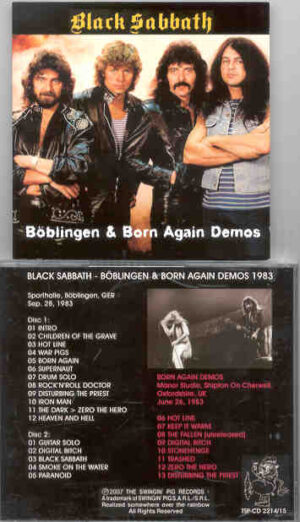 Black Sabbath - Boblingen 1983 & Born Again Demos ( 2 CD!!!!! set ) ( Swingin Pig )