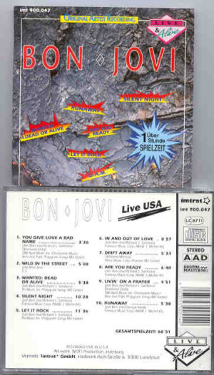 Bon Jovi - Bon Jovi LIVE IN USA