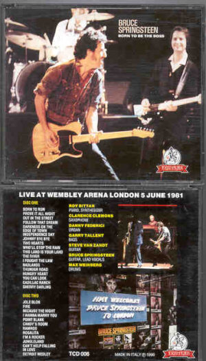 Bruce Springsteen - Born To Be The Boss ( 2 CD!!!!! set ) ( Templar ) ( Wembley Arena , London , June 5th , 1981 )