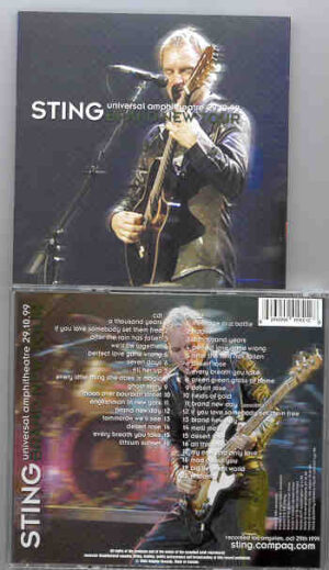Sting / The Police - Brand New Tour ( Universal Amphitheater , October 29th , 1999 ) ( 2 CD!!!!! Set )