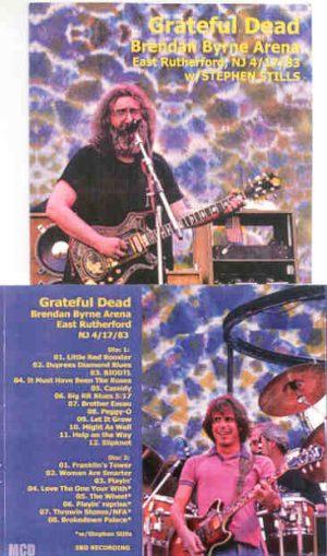 Grateful Dead - Brendan Byrne Arena 1983 ( 2 CD!!!!! SET ) ( New Jersey , April 17th , 1983 )
