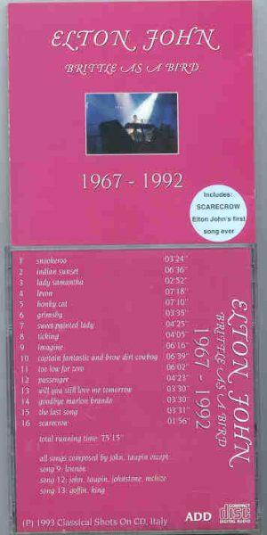 Elton John - Britte As A Bird 1967 - 1992