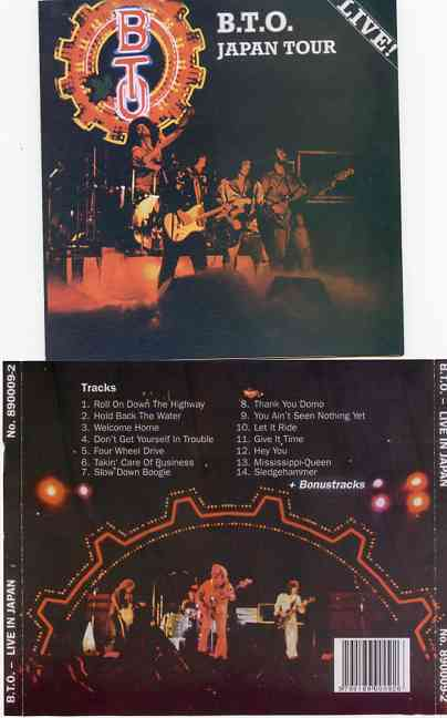 Bachman Turner Overdrive - Live In Japan  ( Bachman Turner Overdrive Live in Tokyo 1975 plus Chicago March 8th , 1975 )