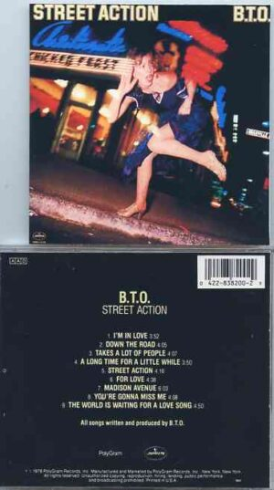Bachman Turner Overdrive - Street Action ( Original Album on CD )