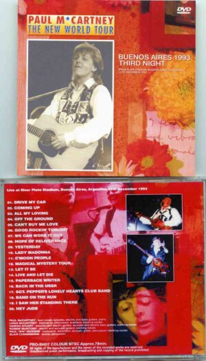 DVD Paul McCartney - Buenos Aires 1993 ( Third Night )