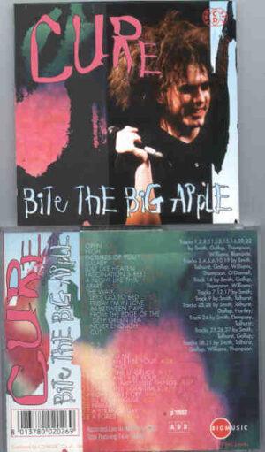 The Cure - Bite The Big Apple ( 2 CD!!!!! set ) ( Big Music ) ( Live In New York , USA , 1992 )
