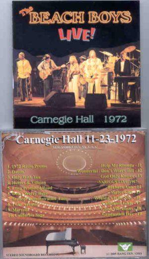 The Beach Boys - Carnegie Hall 1972 ( 2 CD!!!!! set ) ( Carnegie Hall , New York , USA , November 23rd , 1972 )