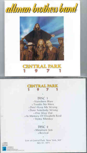 Allman Brothers Band - Central Park 1971 ( 2 CD!!!!! set ) ( New York , USA , July 21st , 1971 )