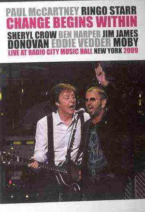 DVD Paul McCartney - Change Begins Within ( with Ringo Starr , New York , 2009 )
