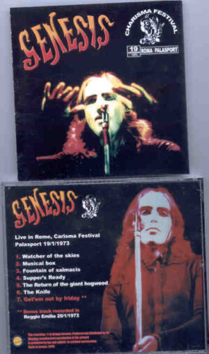 P. Gabriel  /  GENESIS  /  P. Collins - Charisma Festival  ( Live In Rome , Charisma Festival Palasport  , January 19th , 1973 )