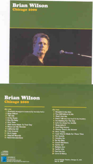 The Beach Boys - Chicago 2000 ( 2 CD!!!!! set ) ( Brian Wilson Live At Chicago Theatre , USA , July 22nd , 2000 )