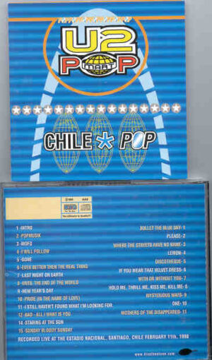 U2 - Chile Pop ( 2 CD!!!!! set )  ( KTS )( Live at Estadio Nacional , Santiago , Chile , February 11th , 1998 )
