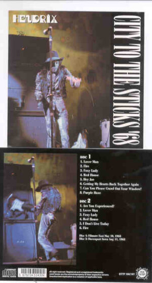 Jimi Hendrix - City To The Sticks '68 ( 2 CD!!!!! SET )( STTP ) ( Fillmore East May 10th '68 & Davenport Iowa Aug 11th '68 )
