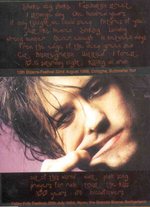 DVD The Cure - Close To You ( 12th Bizarre Fest , August 22nd , 1998 )