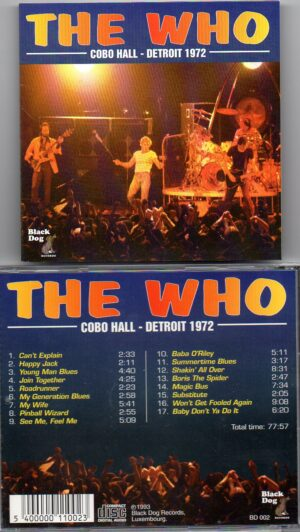 The Who - Cobo Hall ( Yellow Dog ) ( Live in Detroit 1972 )