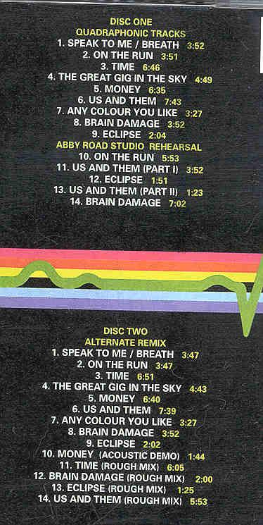 Pink Floyd - Collectors Dark Side Of The Moon ( 2 CD set ) ( Quadraphonic &  Alternate Remix Albums )