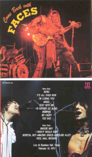 The Face / Rod Stewart - Come Back With Faces ( 2 CD!!!!! set ) ( Live at Budokan Hall , Tokyo , Japan , February 19th , 1974 )