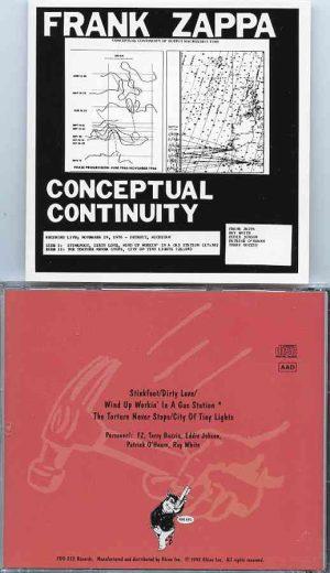 Frank Zappa - Conceptual Continuity ( Live in Detroit , Michigan , USA , November 19th , 1976 )