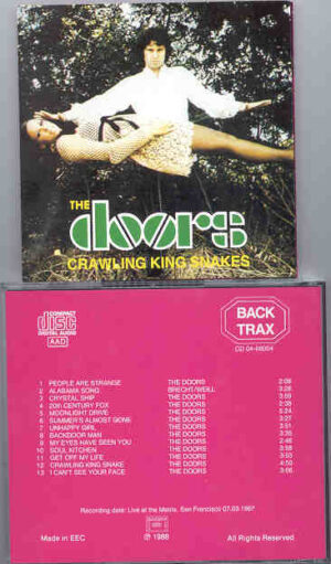 The Doors - Crawling King Snakes ( Back Trax )