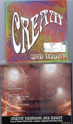 Jack Bruce - CREAM Reunion 2005 Third Night ( 2 CD!!!!! set )