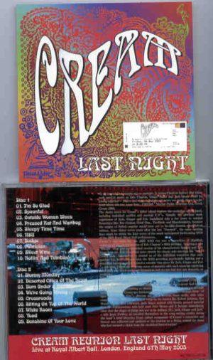 Jack Bruce - CREAM Reunion 2005 Last Night ( 2 CD!!!!! set )