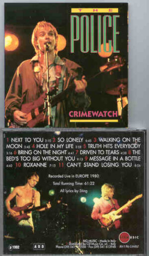 Sting / The Police - Crimewatch ( The Police Live In Europe 1980 ) ( Big Music )