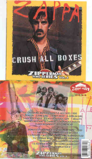 Frank Zappa - Crush All Boxes ( From FZ Acetate plus Bonustracks from FZ Basement Tapes )