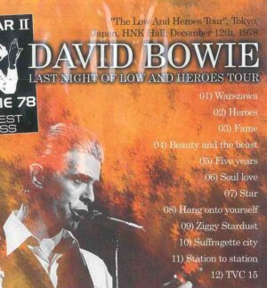 DVD David Bowie - Last Night Of Low And Heros Tour