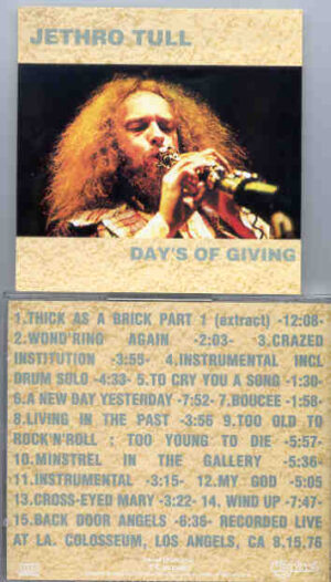 Jethro Tull - Days Of Giving ( Highland )( Los Angeles , CA , USA , August 15th , 1976 )
