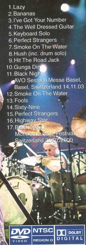 DVD Deep Purple - Live In Helvetia ( Montreaux , Switzerland , July 29th , 2000 )