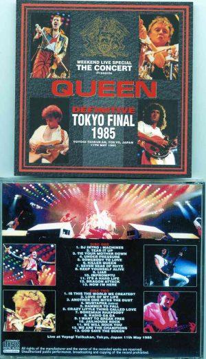 Queen - Definitive Tokyo Final 1985 ( 2 CD!!!!! SET ) ( Yoyogi Taiikukan , Tokyo , Japan , May 11th , 1985 )